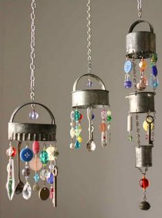 Wind chimes with cookie cutters are such a fun way to use beads and keys.  How difficult are the holes to punch.  Would you be able to find enough 'cool' materials for a large group of students?
