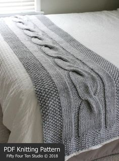 River of Dreams – New Chunky Cable Bed Runner Knitting Pattern! I'm so excited to introduce my new chunky, cable bed runner knitting pattern – River of Dreams ! River of Dreams bed runner knitting patte… Knitting Terms, Cable Knitting, Knitting Stitches, Knitting Needles, Knitting Projects, Knitting Patterns, Crochet Patterns, Free Knitting, Stitch Patterns