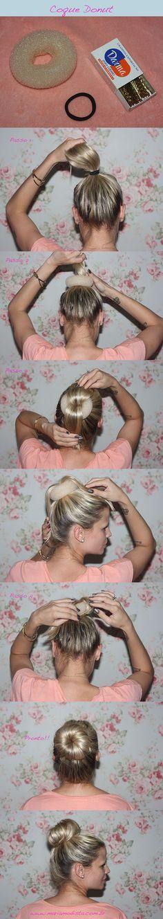 Maria Modista – Passo a passo: coque donut em cabelo curto