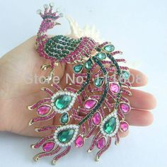 Cheap brooch pink, Buy Quality brooches purple directly from China brooch rhinestone Suppliers: Description: is a high-quality, Gorgeous Peacock Brooch Pin! This brooch is made of alloy(which is done in gold Crystal Brooch, Crystal Rhinestone, Swarovski Crystals, Cute Jewelry, Vintage Jewelry, Women Jewelry, Cheap Crystals, Peacock Jewelry, Minimalist Jewelry