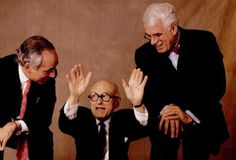 Philip Johnson, with Robert Stern and Peter Eisenman