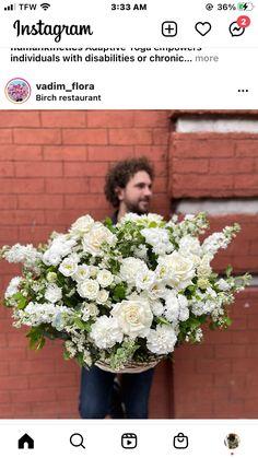 White Floral Centerpieces, 2 Instagram, Floral Wreath, Wreaths, Decor, Floral Crown, Decoration, Door Wreaths, Deco Mesh Wreaths