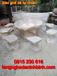 Bàn ghế đá - Bàn ghế đá đẹp ở các tỉnh - Bộ bàn ghế đá tự nhiên