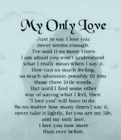Happy Anniversary to my wife. tommorrow (7/29/13) will be 7 years. Although we are not together I feel this way now more than ever. I love you Susan.