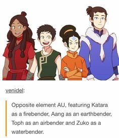So, is Aang still the Avatar? Is Toph the Avatar because she's from the air tribe? Is SOKKA the Avatar because the opposite of no elements is all of them? Avatar Airbender, Avatar Aang, Avatar Funny, Team Avatar, Dark Fantasy, The Last Avatar, Avatar Series, Fire Nation, Fandoms