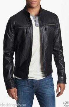 New Soft Spring Collection Lambskin Leather Biker Men's Jacket s M L XL XXL 64 | eBay