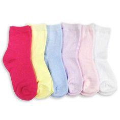 Naartjie Girl's Short -colored Crew Socks 6-Pack