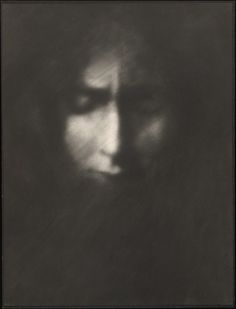 Anne Brigman  Minor, The Pain of All The World,  Bromoil, circa 1910  [From the Yale University Beinecke Rare Book and Manuscript Library]