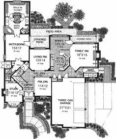 Tudor Style House Plan 66042 with 4 Bed, 4 Bath, 3 Car Garage Tile Walk In Shower, Walk In Shower Designs, European House Plans, Tudor Style Homes, Jack And Jill Bathroom, Closet Layout, Outdoor Kitchen Design, Plan Plan, How To Plan