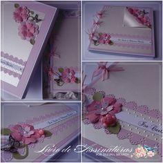 Oi gente!     Segue mais um livro de assinaturas e mensagensexclusivo do Ateliê Eliana Brands.   Hoje vamos mostrar o livro de assin...