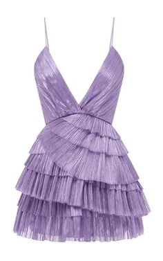 Shop Don't Be Shy Pleated Shell Dress . A part of the brand's Resort collection, Alice McCall's pleated mini dress has a plunging V-neckline. Stage Outfits, Kpop Outfits, Casual Dresses, Short Dresses, Fashion Dresses, Mini Dresses, Vestidos Sexy, Lavender Dresses, Mode Vintage