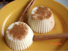Flan de queso y leche merengada sin azúcar