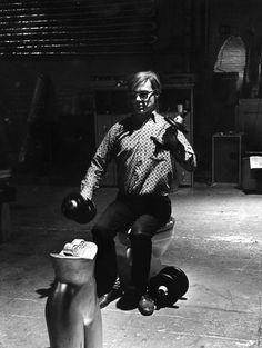 Andy Warhol at The Silver Factory. New York. 1964. Picture by Eve Arnold.