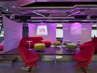 Example of Lighting Colour Changes Office Screens, Fabric Structure, Creative Inspiration, Color Change, Light Colors, Reception, Concept, London, Lighting