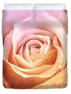 "Rose Mural square Queen (88"" x 88"") Duvet Cover"