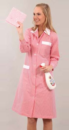 Pyjamas, Pjs, Work Overalls, Housecoat, Maid Dress, Work Wear, Shirt Dress, Maids, Apron