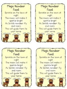 Christmas - Magic Reindeer Food
