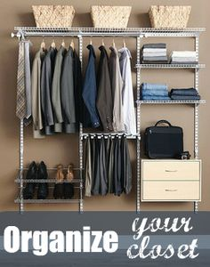 Closet Organization made easy!! I love these tips for getting and staying organized! #closet #organization #tips