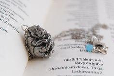 Bashful Hippo Necklace by EnchantedLeaves on Etsy
