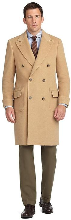 $1,698, Golden Fleece Double Breasted Polo Coat by Brooks Brothers. Sold by Brooks Brothers. Click for more info: http://lookastic.com/men/shop_items/81076/redirect