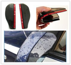 2014 New Sale Car Mirror 6pcs/lot Typer Car Rearview Mirror Rain Eyebrow Shield for Storm Gear Pair free Shipping with Tracking