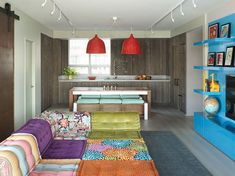 Colorful, Modern Kid-Friendly Apartment by Incorporated Architecture