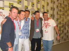 """COMIC-CON 2010 — """"USA Network Stars at The Comic Con 2010 Event, in San Diego, CA, July 22, 2010. Tim Matheson, Bruce Campbell, Matt Nix, Chris Vance and Alfredo Barrios Jr."""