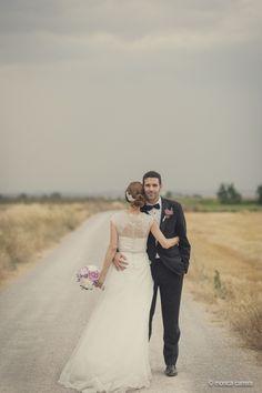 Romántica instántanea de una pareja recién casada. #Blog #Innovias