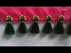 Saree Kuchu New Designs, Cotton Saree Blouse Designs, Saree Tassels Designs, Bridal Blouse Designs, Cloth Flowers, Fabric Flowers, Saree Brooch, Designer Blouse Patterns, Hand Embroidery Designs