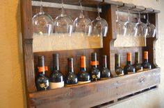 Rustic Chic 12 Bottle 8 Glass Handmade by CraigMoodieDesigns