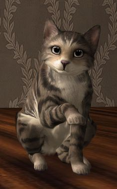 He is my amusing cat - Mel Very beautiful cat with light brown and chestnut hair with black strips, and grey eyes. Sims 4, The Sims 3 Pets, Die Sims, Wild Dogs, Cats And Kittens, Your Pet, Horses, Pet Lovers, Charlotte