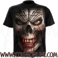 Camiseta de manga corta Skull Shock XT3868. Ropa gótica, heavy metal y alternativa para chico. Visitanos!