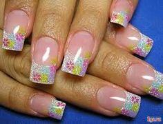 Bonitos Diseños de Uñas con Flores - ε Diseños de Uñas Decoradas з
