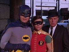 'Batman' ('Adam West'), 'Robin' ('Burt Ward'), and 'Commissioner Gordon' ('Neil Hamilton') on 'Batman' TV Series (1966–1968)