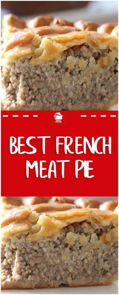 Jan 2019 - My grandmother used to serve when I was a youngster! I copied the recipe, and I have been enjoying French Meat Pie ever since. It's still delicious! French Canadian Meat Pie Recipe, French Meat Pie, French Pork Pie Recipe, Easy Meat Pie Recipe, French Meal, Tortiere Recipe, Meat Recipes, Cooking Recipes, Chicken Recipes