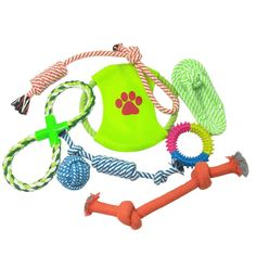 BUYITNOW Pets Cotton Rope Toy Set for Medium Large Dogs Chew Knot Ball Teeth Cleaning Molar Toys ** Click image for more details. (This is an affiliate link and I receive a commission for the sales)