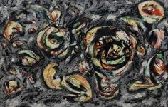 Ocean Greyness by Jackson Pollock, Guggenheim Museum Solomon R. Guggenheim Museum, New York © 2016 The Pollock-Krasner Foundation/Artists Rights Society (ARS), New York Medium: Oil on canvas Source: guggenheim-art Action Painting, Drip Painting, Jackson Pollock, Henri Matisse, Andy Warhol, Pablo Picasso, Wyoming, Vincent Van Gogh, Pollock Paintings
