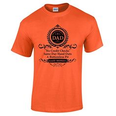 Gifts For Dad Fathers Day T Shirt Birthday Presents Orange