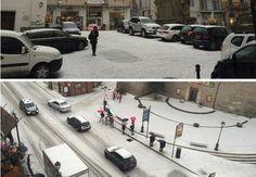 Neve e grandine sui Castelli Romani, temperature in calo nei prossimi giorni e sopratutto nel fine settimana