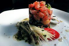 Tartare of salmon gravlax and marinated sweet mustard- Hotel Rada Siri