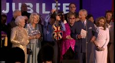 Prince Charles addressed The Queen as 'Your Majesty', before adding 'Mummy' which gained a rousing laughter from the crowd