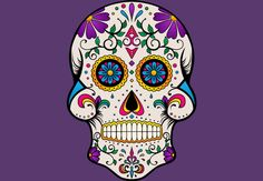'Sugar Skull' Photographic Print by MellowGroove Hoodies For Sale, Canvas Prints, Art Prints, Phone Covers, Cotton Tote Bags, Sugar Skull, Psychedelic, Graphic Tees, Ornaments