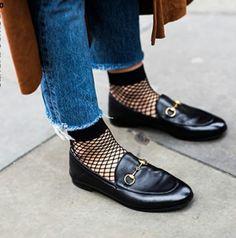 2017年秋冬トレンド靴下 メッシュソックス
