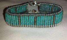 blue silver safety pin bracelet #toobuku // www.thebukuproject.com