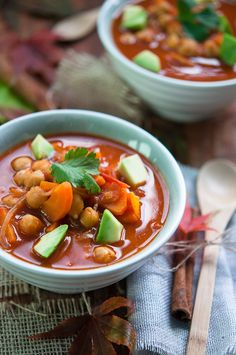 Spicy smoky chickpea soup