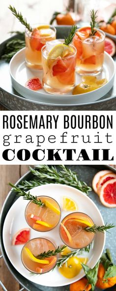 Rosemary Brown Derby (Bourbon and Grapefruit Cocktail) - Cocktail Rezepte Rosemary Cocktail, Grapefruit Cocktail, Grapefruit Juice, Refreshing Cocktails, Easy Cocktails, Cocktail Recipes, Drink Recipes, Fun Drinks, Cocktail Ideas