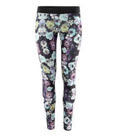 H - floral leggings