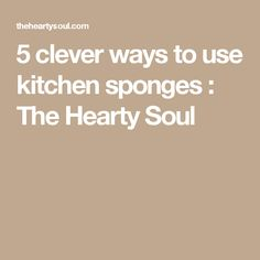 5 clever ways to use kitchen sponges : The Hearty Soul