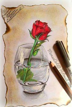 Rosas Al Lapiz Dibujos De Rosas A Lapiz Dibujos