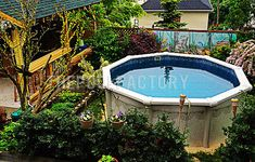 Above Ground Pool Installation Photos - The Pool Factory Garden Ideas Around Above Ground Pool, Above Ground Pool Landscaping, Above Ground Pool Decks, In Ground Pools, Pool Landscape Design, Landscape Lighting Design, Landscape Walls, Landscape Edging, Brisbane